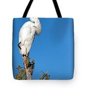 Giant Egret Tote Bag