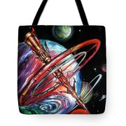 Giant, Old Red Space Shuttle Of Alien Civilization Tote Bag