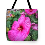 Giant Pink Hibiscus Tote Bag