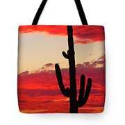 Giant Saguaro  Southwest Desert Sunset Tote Bag