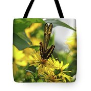 Giant Swallowtail Wings Folded Tote Bag
