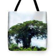 Giant Tree In Amazon Skyline Tote Bag