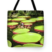 Giant Water Lily Platters Tote Bag