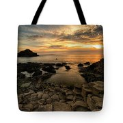 Giants Causeway Sunset Tote Bag