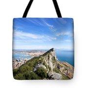 Gibraltar Rock Bay And Town Tote Bag
