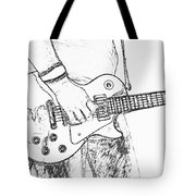 Gibson Les Paul Guitar Sketch Tote Bag