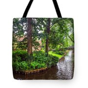 Giethoorn Greenery And Bridges. Venice Of The North Tote Bag