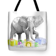 Gift Wrapping Elephant Tote Bag