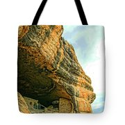 Gila Cliff Dwellings Looking Up Tote Bag