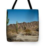 Gila Mountains And Sonoran Desert Tote Bag