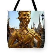 Gilded Statue Of A God At The Grand Tote Bag