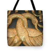 Gilded Temple Carving Of Geese Tote Bag