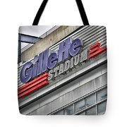 Gillette Stadium Sign Tote Bag