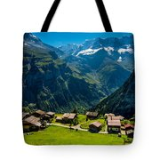Gimmelwald In Swiss Alps - Switzerland Tote Bag