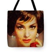 Gina Lollobrigida, Vintage Hollywood Actress Tote Bag