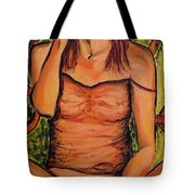 Gina The Smoking Woman Tote Bag