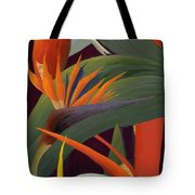 Ginger And Bird Of Paradise Tote Bag