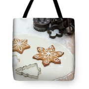 Gingerbread Making - Christmas Preparing With Vintage Kitchen Tools Tote Bag