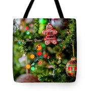 Gingerbread Man With Happy New Year 4350 Tote Bag