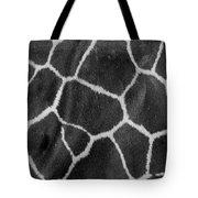 Giraffe Black And White Tote Bag