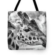 Giraffe Bw Tote Bag