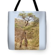 Giraffe Camouflage Tote Bag