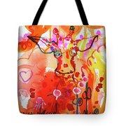 Giraffe Delightful Deborah Tote Bag