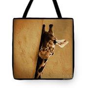 Giraffe Hiding  Tote Bag