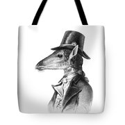 Giraffe In A Smoking Jacket With Top Hat Tote Bag