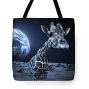 Giraffe On Moon Tote Bag
