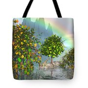 Giraffe Rainbow Heaven Tote Bag