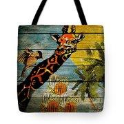 Giraffe Rustic Tote Bag