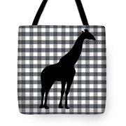 Giraffe Silhouette Tote Bag