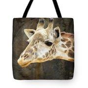 Giraffe Up Close Tote Bag