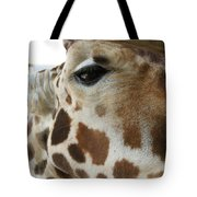 Giraffe Up Close Tote Bag