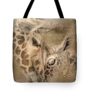 Giraffes, Big And Small Tote Bag