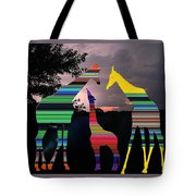 Giraffes In A Sunset Tote Bag