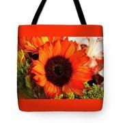 Girasol Naranja Tote Bag