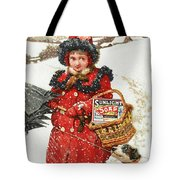Girl And Dog In Ad For Sunlight Soap Tote Bag