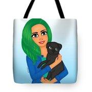 Girl And Dog Pet Tote Bag