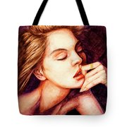 Girl And Dreams Tote Bag