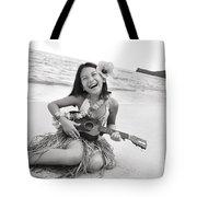 Girl And Her Ukulele Tote Bag