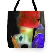 Girl And Puppy Painting Tote Bag