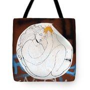 Girl And Sun Tote Bag