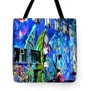 Girl And The Wall Tote Bag