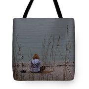 Girl At Beach Tote Bag