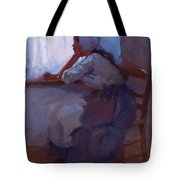 Girl At The Window 1885 Tote Bag
