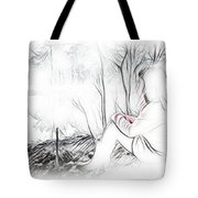 Girl By The Pond Tote Bag