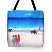 Girl Friends - Beach Painting Tote Bag