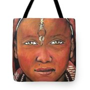 Girl From Africa Tote Bag